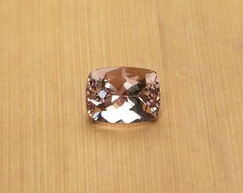 Natural Genuine Morganite - 6.80 x 8.90mm, 5.35mm deep Rectangular Cushion shape Loose Pink Morganite Gemstone, 2.10 carats - LSG1027