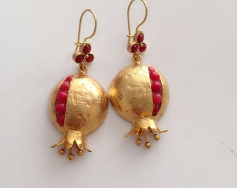 Coral Pomegranate Earring