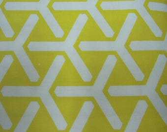 Fabric - Organic Cotton Twill, Daffodils, yellow, white, Sewing, Home Decor