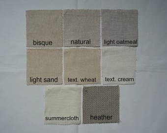 Harmony Fabric Samples by NikkiDesigns, Hemp, Organic Cotton, Linen