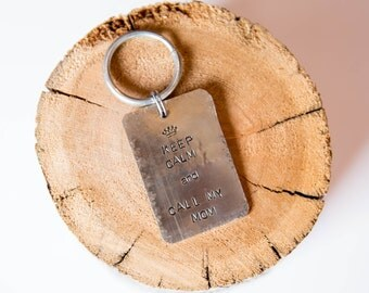 Not all dog tags are created equal. Pet id tags handcrafted in Bozeman, Montana personalized to your custom request. Keep Calm Pet Tag