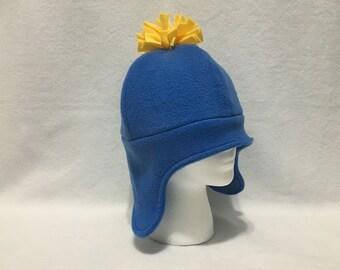 SOUTH PARK HAT | Craig | Belfry Costume Creations | Handmade Fleece Beanie Unisex Adult Teenager Cosplay Halloween Winter Accessory