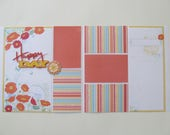 Happy Day Premade,12x12 Scrapbook Layout,  Scrapbook Page Kit, Project Life, Filofax