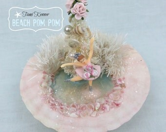 CHRISTMAS Shabby Pink Ballerina in Sea Shell