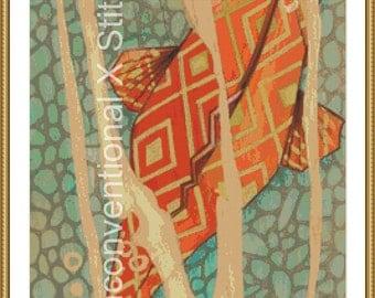 Fish cross stitch pattern - Ro Sham Bo - Licensed Brianna Reagan