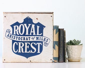 Vintage Royal Crest Dairy Box, Aristocrat of Milk