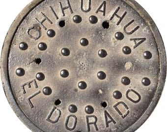 DOORMAT - Chihuahua, Mexico Sewer Cover  - Original Photography