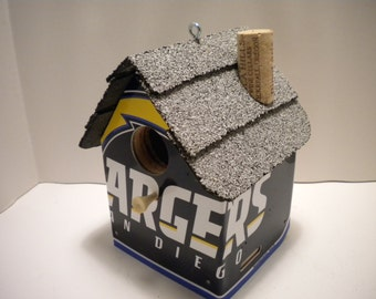 San Diego Charges  License Plate Birdhouse