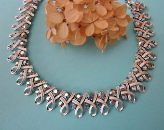 Vintage Coro Rhinestone Necklace