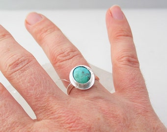 Turquoise Ring, Royston Turquoise, Jewelry, Sterling Silver Ring, Custom Jewelry, Made to Order, Choose Your Size