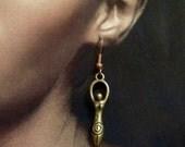 Antiqued Goddess Earrings