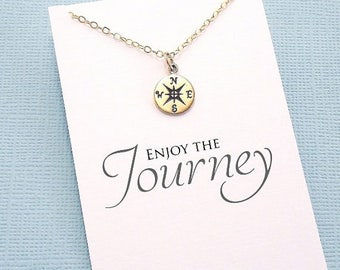 SALE - Graduation Gifts for Her | Compass Necklace, Compass Rose, Graduation Gifts, Class of 2017, Student Gift, College Student, High Schoo