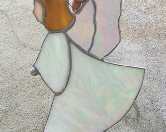 Blessing angel stained glass angel suncatcher guardian angel home decoration