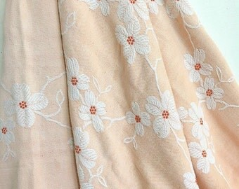 Im Trying to Bate You... Vintage Peach Dogwood Bates Bedspread Blanket Comforter