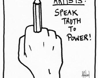 Artists Speak Truth to Power CARTOON