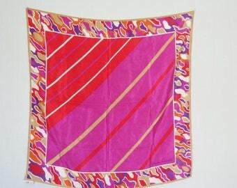 SALE silk scarf- Christian Fischbacher Silk scarf-Geometric scarf -abstract  scarf
