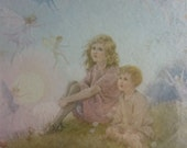 Vintage Fairy Print by Margaret W Tarrant in Original Frame 1930's