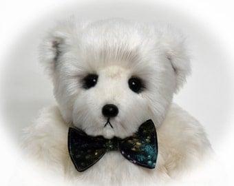 Bugs – Handmade Teddy Bear, Artist Bear, Stuffed Animal, Faux Fur, White Bear, Toy, OOAK, Made In Alaska