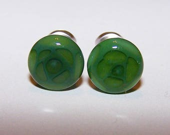 2 gauge green design glass plugs single flare with o-rings 769