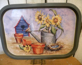Vintage Gardeners Watering Can Tray collector art ECS RDT SVFTeam FVGTEAM