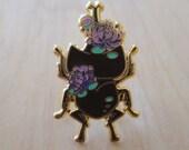 Flower Rhino Beetle - Enamel Pin