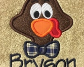 BATH TOWEL Thanksgiving Turkey Personalized Towel