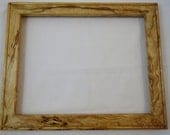 11x14 Spalted Light Curly Beech Picture Frame B6