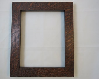 8x10 Quarter Sawn Red Oak with Brown Mahogany Dye Picture Frame