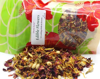 Edible Flowers, Edible Flowers for Tea, Cakes, or Baking, Cake decorating, herbal tea, flower sprinkles, cake decorating, dried flowers