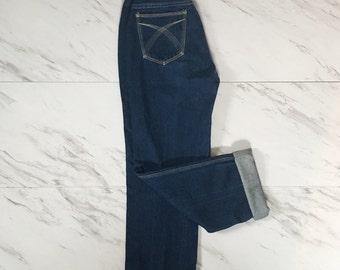 Vintage dark denim jeans straight leg jeans 28 waist