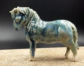 winter's touch horse - flying porcelain horse - original art