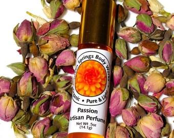 Passion Rose Botanical Perfume with Bulgarian Rose and Jasmine
