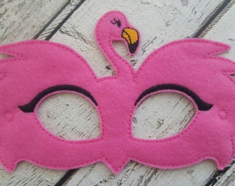 Pink Flamingo Felt Mask - Party Favors * Birthday Parties * Dress Up * Halloween * Playtime * Flamingo Mask