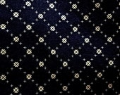 New fabric, 1 yd, quilt, quilting, sewing, 100% cotton, small print, navy blue