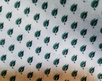 New fabric, quilt, quilting, sewing, reproduction, civil war, 19th century repro, period fabric, leaves, green, white