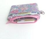 black zipper pouch. charcoal grey card cash minimalist wallet. earbud case. teen tween. small cute pouch