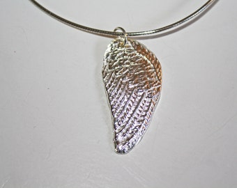 Silver Clay Angel Wing Pendant