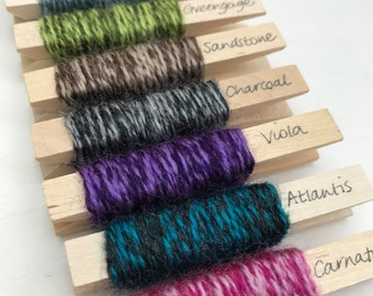 Yarn pegs - set of 8 variegated shades of Stylecraft Special DK
