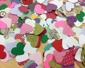 500 Assorted Heart Punches Paper Cardstock Card Stock Decorative Altered Art Collage Scrapbooking Colorful Confetti Party Decoration Love