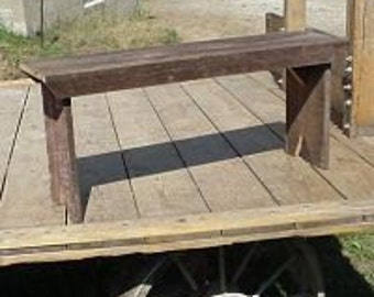 Amish Country Collectible Handmade Rustic 3 Foot Barn Wood Bench
