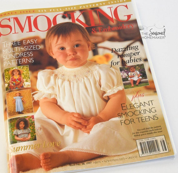 Australian Smocking & Embroidery Magazine - Issue No. 38 - Smocking Needlework Patterns - Needlework Tutorial - Smocking Tutorial
