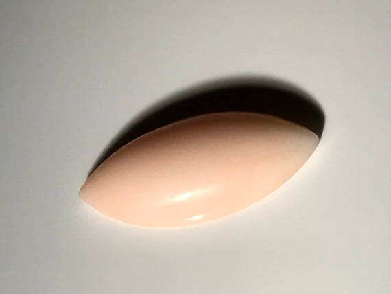 Angel Skin Coral 18.25 mm Marquis Cabochon (2.5 ct)