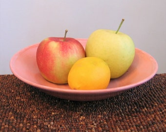 Pottery Bowl, Serving Bowl, Stoneware Ceramic Fruit Bowl in Pink - Wedding Gift