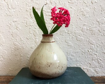 Modern Ceramic Bud Vase - Stoneware Wheel Thrown Pottery