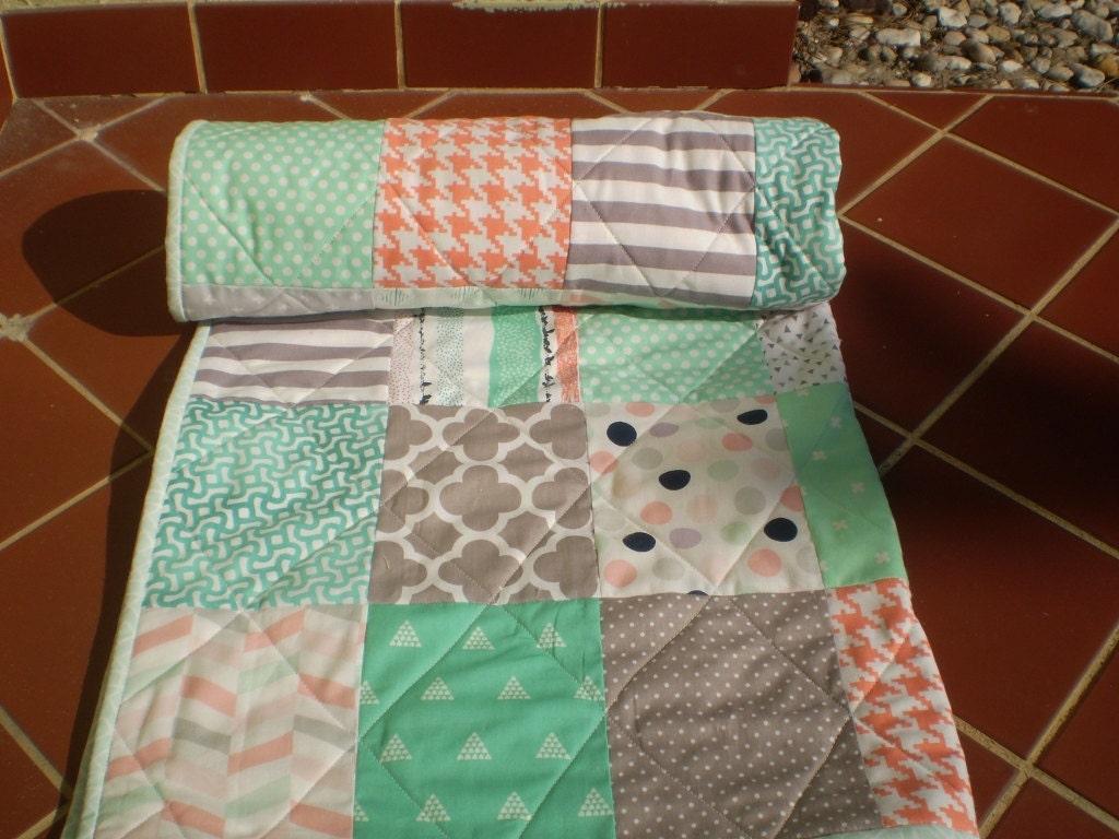 Handmade Baby Quilt Baby Girl Quilt Baby Girl Bedding