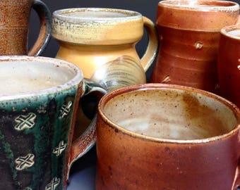 Mystery Mug.  I Choose You a Mug.  Soda Fired Stoneware.