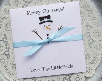 Holiday Party Favors - Christmas Party Favor - Snowman Favors - Holiday Gift - Gift Card Holder - Holiday Lotto Holder - Holiday Favors
