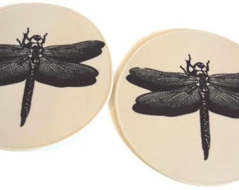 One Pair Six Inch Silicone Dragonfly Table Trivets Desk Coasters Kitchen Placemats