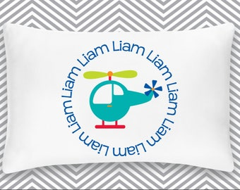 Personalized Helicopter Pillowcase Home Decor Bedding Bed Transportation Nursery