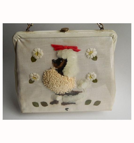 SALE Vintage 1950s Jolles Original Poodle Handbag
